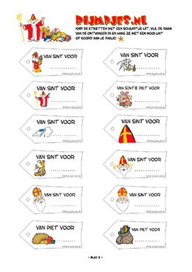 Gratis Sinterklaaslabels divers 2