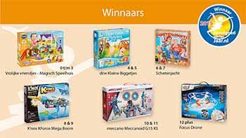 Speelgoed van het Jaar 2015 Winnaars